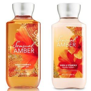 Bath & Body Works Sensual Amber Body Wash & Lotion